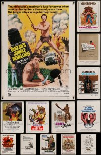 1m003 LOT OF 13 1970S 30X40S 1970s great images from a variety of different movies!