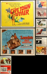 1m027 LOT OF 14 UNFOLDED HALF-SHEETS 1960s great images from a variety of different movies!