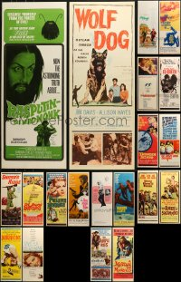 1m023 LOT OF 24 UNFOLDED INSERTS 1950s-1970s great images from a variety of different movies!