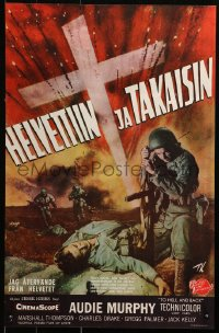 1p426 TO HELL & BACK Finnish 1955 Audie Murphy's life story as soldier in World War II, Kiviharju!