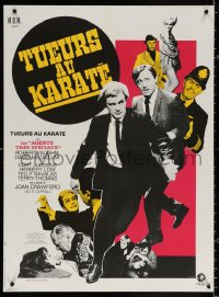 1p551 KARATE KILLERS French 23x31 1968 Robert Vaughn, David McCallum, Man from UNCLE, Marty art!