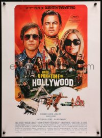1p599 ONCE UPON A TIME IN HOLLYWOOD French 15x21 2019 Pitt, DiCaprio and Robbie by Chorney, Tarantino!