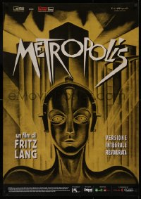 1p730 METROPOLIS Italian 1sh R2010 Fritz Lang, classic robot art from the first German release!