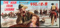 1p991 MAN FROM LARAMIE Japanese 10x20 press sheet 1955 James Stewart, directed by Anthony Mann!
