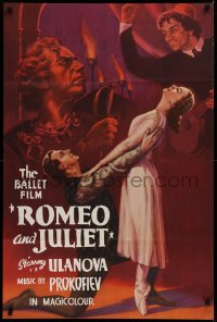 1p695 ROMEO & JULIET export Russian 28x42 1955 Russian version of Shakespeare classic tragedy!