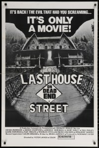 1r700 LAST HOUSE ON DEAD END STREET 1sh 1977 evil that had you screaming is back, it's only a movie
