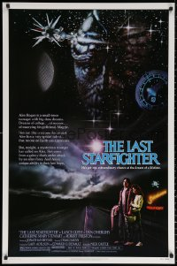 1r702 LAST STARFIGHTER 1sh 1984 Lance Guest, great sci-fi art by Charles de Mar!