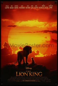 1r706 LION KING int'l advance DS 1sh 2019 Walt Disney live action/CGI, Donald Glover as Simba!