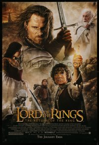 1r714 LORD OF THE RINGS: THE RETURN OF THE KING advance DS 1sh 2003 Jackson, cast montage!