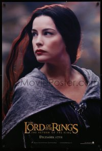 1r719 LORD OF THE RINGS: THE RETURN OF THE KING teaser DS 1sh 2003 sexy Liv Tyler as Arwen!