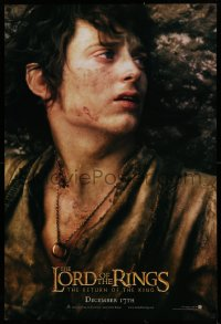 1r717 LORD OF THE RINGS: THE RETURN OF THE KING teaser DS 1sh 2003 Elijah Wood as tortured Frodo!