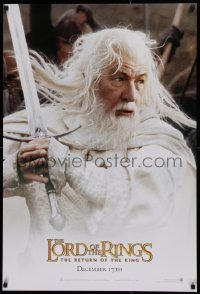 1r718 LORD OF THE RINGS: THE RETURN OF THE KING teaser DS 1sh 2003 Ian McKellan as Gandalf!