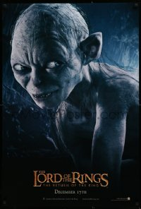 1r716 LORD OF THE RINGS: THE RETURN OF THE KING teaser DS 1sh 2003 CGI Andy Serkis as Gollum!