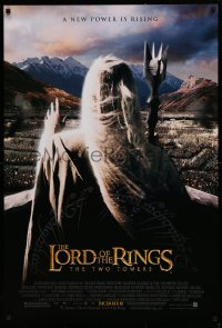 1r720 LORD OF THE RINGS: THE TWO TOWERS advance DS 1sh 2002 Christopher Lee as Saruman!