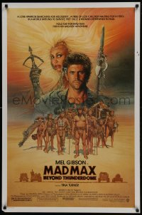 1r726 MAD MAX BEYOND THUNDERDOME 1sh 1985 art of Mel Gibson & Tina Turner by Richard Amsel!