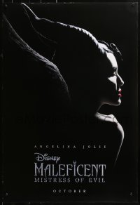 1r729 MALEFICENT: MISTRESS OF EVIL teaser DS 1sh 2019 Angelina Jolie in title role, Fanning!