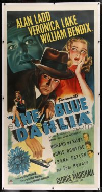 2a028 BLUE DAHLIA linen 3sh 1946 art of Alan Ladd, sexy Veronica Lake, William Bendix, ultra rare!