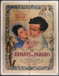 2a081 CHILDREN OF PARADISE linen French 1p 1945 Marcel Carne, art of Arletty & Barrault, ultra rare!
