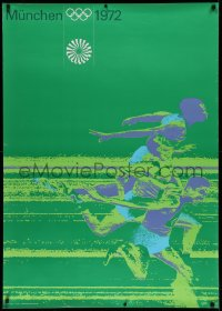 2a021 OLYMPISCHE SPIELE MUNCHEN 1972 33x47 German special poster 1972 Longines art of runners!