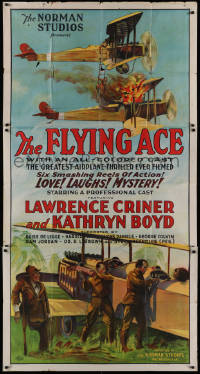 2b005 FLYING ACE 3sh 1926 cool all-black aviation, the greatest airplane thriller ever produced!