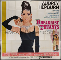 2b002 BREAKFAST AT TIFFANY'S 6sh 1962 classic McGinnis art of glamorous Audrey Hepburn w/ kitten!