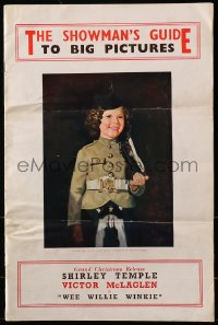 2b029 20TH CENTURY FOX 1937-38 English campaign book 1937 Shirley Temple in Wee Willie Winkie, rare!