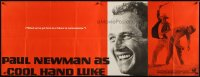 2b014 COOL HAND LUKE paper banner 1967 Paul Newman with famous smile, cool image & tagline, rare!