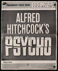 2b031 PSYCHO pressbook 1960 Alfred Hitchcock, includes rare Care & Handling of Psycho supplement!