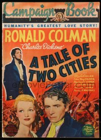 2b032 TALE OF TWO CITIES pressbook 1935 Ronald Colman, Elizabeth Allan, Charles Dickens, ultra rare!