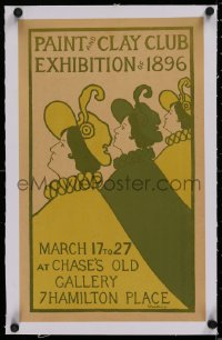 2b377 PAINT & CLAY CLUB EXHIBITION OF 1896 linen 11x18 museum/art exhibition 1896 Woodbury art!
