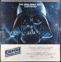 2d177 EMPIRE STRIKES BACK 6sh 1980 George Lucas classic, giant Darth Vader head in space!