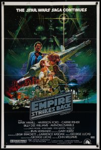 2d255 EMPIRE STRIKES BACK Aust 1sh 1980 George Lucas sci-fi classic, cool Noriyoshi Ohrai art!