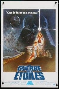 2d076 STAR WARS Belgian 1977 George Lucas classic sci-fi epic, great art by Tom Jung!