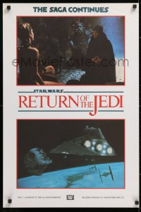 2d356 RETURN OF THE JEDI 4 English double crowns 1983 completely different images, ultra-rare!