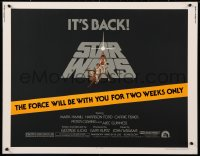 2d039 STAR WARS 1/2sh R1981 George Lucas, art by Tom Jung, force is with you for two weeks only!