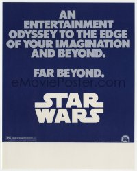 2d062 STAR WARS herald 1977 an entertainment odyssey to the edge of your imagination & far beyond!