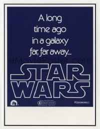 2d064 STAR WARS long herald 1977 George Lucas classic, a long time ago in a galaxy far far away!