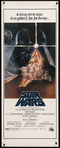 2d035 STAR WARS insert R1980s George Lucas classic sci-fi epic, great art by Tom Jung!