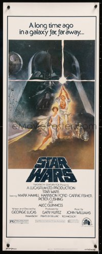 2d034 STAR WARS insert 1977 George Lucas classic sci-fi epic, iconic art by Tom Jung!