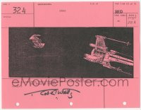 2d070 STAR WARS signed shot #324 storyboard page 1977 by Robert Watts, Darth Vader's TIE fighter!
