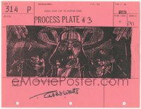 2d069 STAR WARS signed shot #314P storyboard page 1977 by Robert Watts, Darth Vader in TIE fighter!