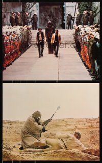 2d054 STAR WARS 4 color 16x20 stills 1977 Luke Skywalker, Han Solo & Chewbacca, w/ rare mistake!