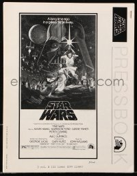 2d065 STAR WARS pressbook 1977 George Lucas classic sci-fi epic, lots of poster images!