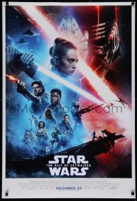 2d519 RISE OF SKYWALKER advance DS 1sh 2019 Star Wars, Ridley, Hamill, Fisher, great cast montage!