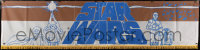 2d041 STAR WARS silk banner 1977 A New Hope, George Lucas, great different montage art, ultra rare!