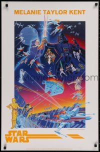 2d061 STAR WARS 22x34 art print 1992 different art of cast by artist Melanie Taylor Kent!