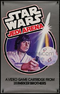 2d042 STAR WARS 23x36 advertising poster 1983 art of Luke Skywalker w/lightsaber, Jedi Arena!