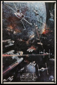 2d047 STAR WARS 22x33 music poster 1977 George Lucas classic, John Berkey artwork, soundtrack!
