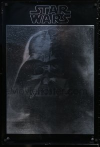 2d048 STAR WARS foil 22x33 soundtrack poster 1977 George Lucas classic sci-fi epic, Darth Vader!