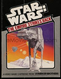 2d225 EMPIRE STRIKES BACK standee 1982 Parker Bros., Atari 2600 game, AT-AT under attack!